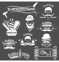 Barbershop tool collection vector