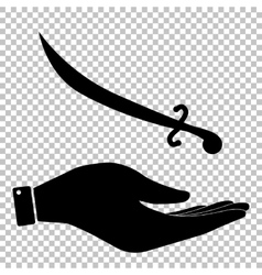 Sword sign flat style icon vector