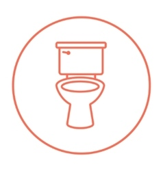 Lavatory bowl line icon vector