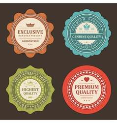 Vintage stickers and labels vector