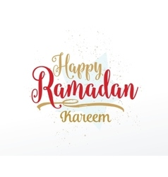 Ramadan kareem greeting typographic design vector
