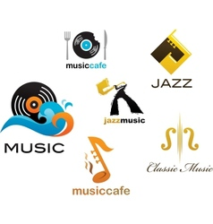 Collection of music icons and elements vector