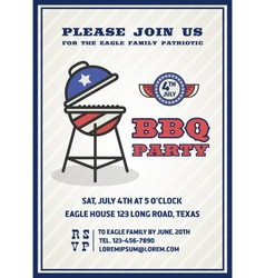 Barbecue party invitation and response card vector image