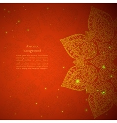 Red indian ornament vector