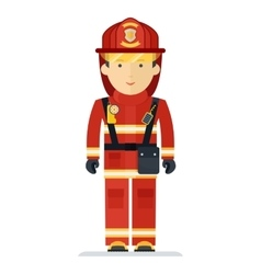 Profession fireman in suit vector
