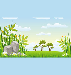 a landscape with stones vector image vector image