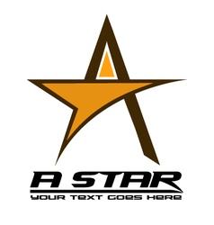 A-Logo vector image