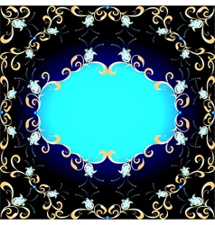 background and ornament of precious stones vector image