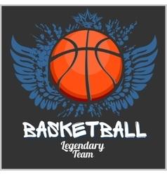 Basketball championship - emblem for t vector image vector image