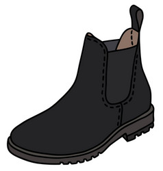 black pear boot vector image