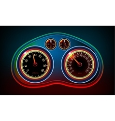 Car dashboard editable vector