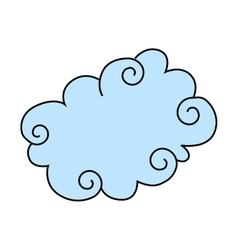 cloud cute drawing icon vector image