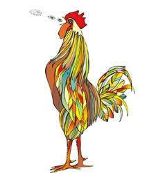 Cock Crow vector image vector image