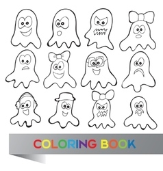 Coloring book Halloween vector image vector image