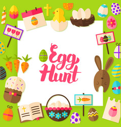 Egg hunt paper concept vector