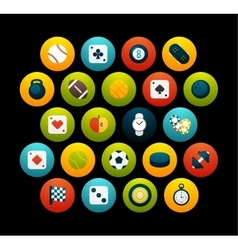 Flat icons set 12 vector