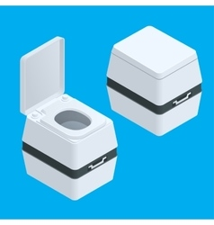 Isometric small bio toilet isolated on white vector