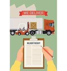 Logistics Transport Delivery Poster vector image