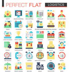 logistics transportation complex flat icon vector image