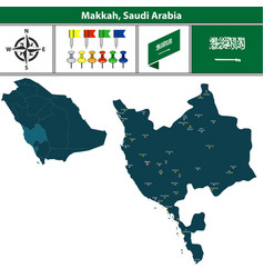 Map of makkah saudi arabia vector