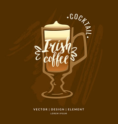 modern hand drawn lettering label for alcohol vector image vector image