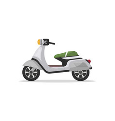 Modern moped isolated icon vector