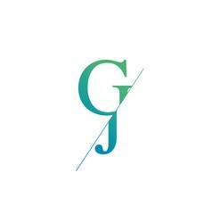 monogram letters j g logo design template vector image