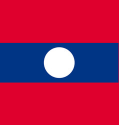 national official flag of laos vector image vector image