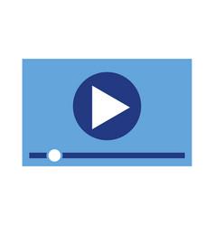 player video multimedia digital web vector image vector image