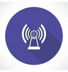 Radio station icon vector