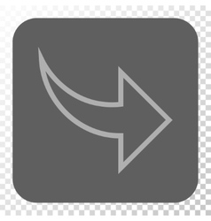 Redo Rounded Square Button vector image
