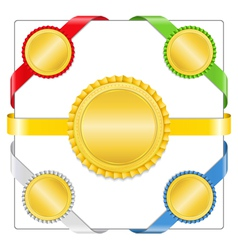 Ribbons with medals vector image