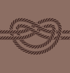 sea boat rope knot isolated vector image vector image