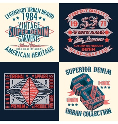 Set of tee shirt print design vector