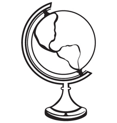 Silhouette globe vector image vector image