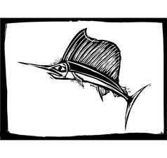 Swordfish 2 vector image vector image