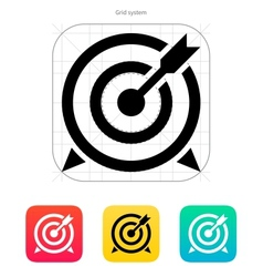 Target with arrow icon vector image vector image