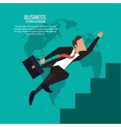 Businessman suitcase suit business icon vector