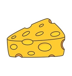 Cheese food piece vector
