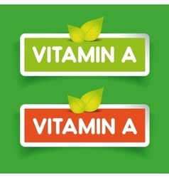 Vitamin a label set vector