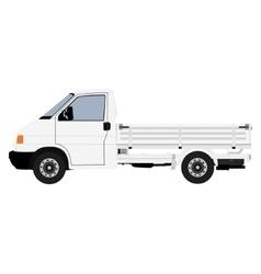White pickup truck vector