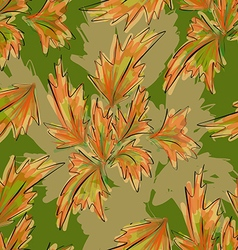 Seamless texture autumn vector