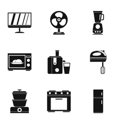 Technique icons set simple style vector