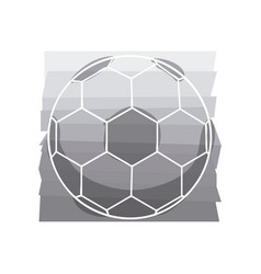 grey background with soccer ball with white vector image