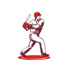 Baseball Player Retro vector image