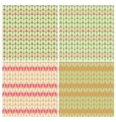 Knitting patterns seamless vector