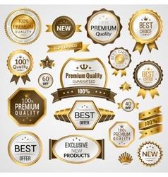 Luxury labels set vector