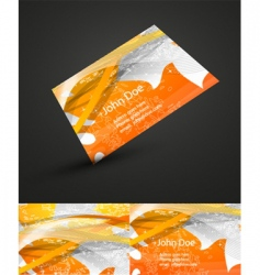 Autumn business card vector