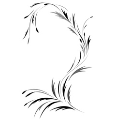 Floral tattoo design vector