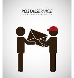 Postal service design vector